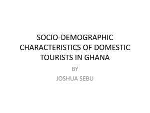 socio-economic characteristics of domestic tourists in ghana