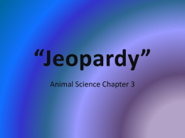 Jeopardy Beef Industry - NAAE Communities of Practice