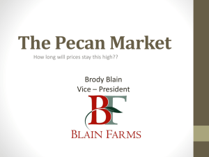 The Pecan Market - California Pecan Grower`s Association