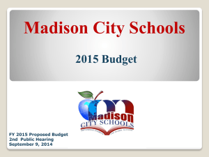 Budget hearing 1 - Madison City Schools