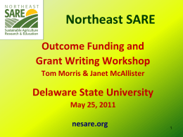 Performance Target - Northeast Sustainable Agriculture Research