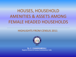houses, household amenities & assets among female headed