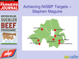 Achieving NISBP Targets
