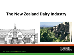The New Zealand Dairy Industry