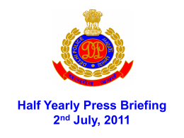 Half Yearly Press Briefing 2011