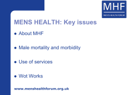NATIONAL MEN`S HEALTH WEEK (NMHW)