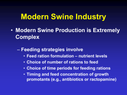 Economic Modeling of Returns to Swine Feeding and Management