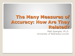 The many measures of accuracy: how are they related?