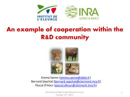 An example of cooperation within the R&D community