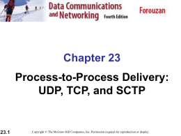 UDP, TCP, and SCTP