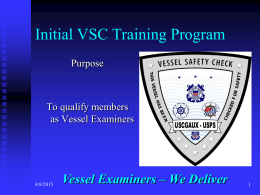 Vessel Examiners - United States Power Squadrons
