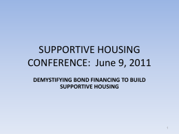 PowerPoint - Supportive Housing Network of New York
