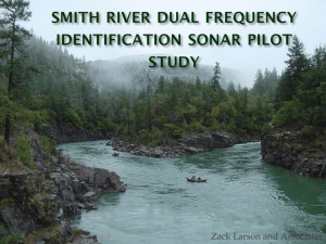 (DIDSON) Pilot Study - Smith River Alliance