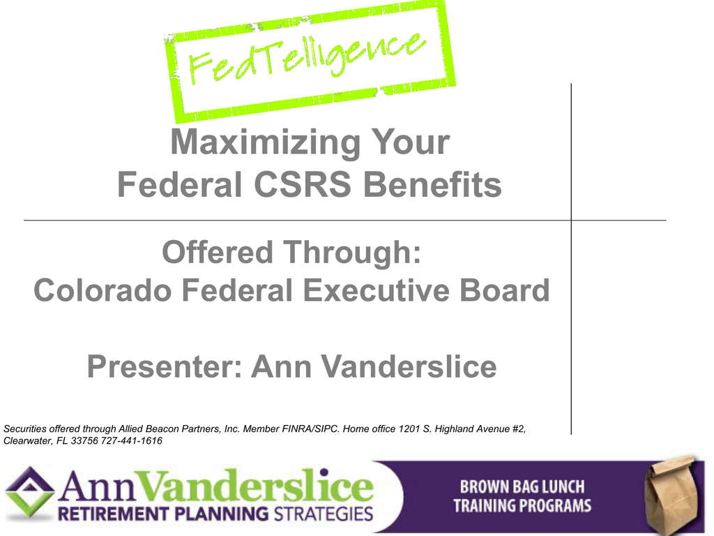 CSRS Power Point Presentation