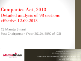 Presentation on 98 sections effective 12092013
