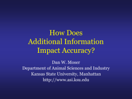 How does additional information impact accuracy?
