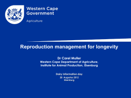 - Department of Agriculture: Western Cape