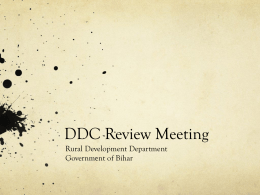 DDC Review Presentation of RDD