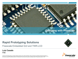 TWR-LCD - Freescale Semiconductor