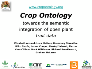 Crop Ontology towards the semantic integration of open