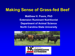 Poore, Grass-fed beef conference Powerpoint