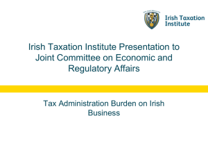 Institute Presentation to Joint Committee on