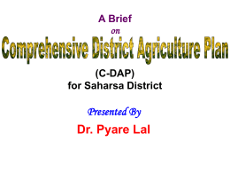 Presentation for Saharsa - Bihar Institute of Economics