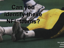Do you know these NFL teams?