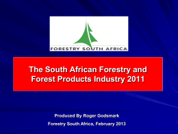 South African Forestry and Forest Products Industry Facts