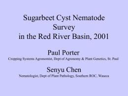 Sugarbeet Cyst Nematode Survey in the Red River Valley Basin