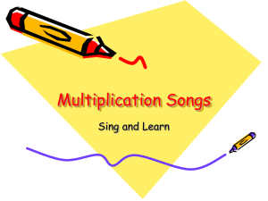 Multiplication Songs