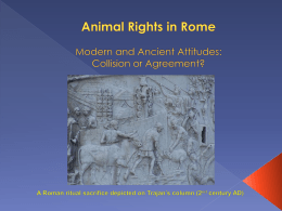 Animal Rights in Rome - Talks by Experts on Classics