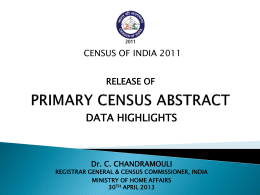 India 2011 - Census of India Website