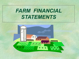 FARM ACCOUNTING AND FINANCIAL STATEMENTS