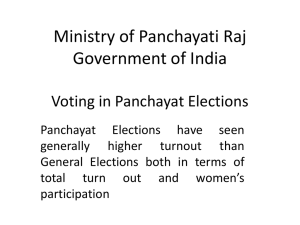 Voting in Panchayat Elections - Election Commission of India