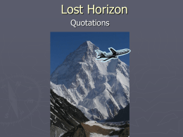 Lost Horizon Quotes