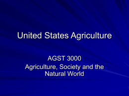 United States Agriculture - California State University Stanislaus