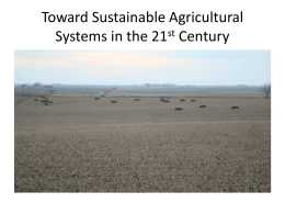 Ron Rosmann presentation - Sustainable Agriculture Research