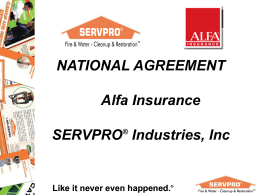 Alfa National Agreement PPT