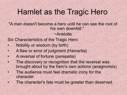 Hamlet as a tragic hero essay
