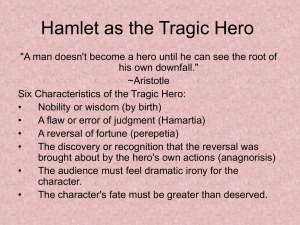Hamlet as the Tragic Hero