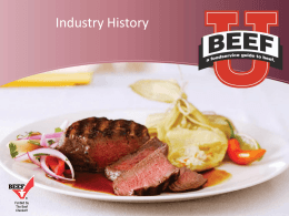 Beef Industry History
