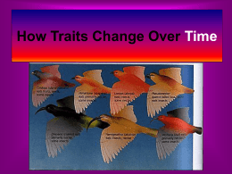 Davis How Traits Change Over Time
