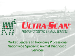 scanning - Ultra Scan Limited