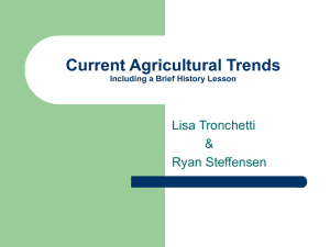 Current Ag Trends