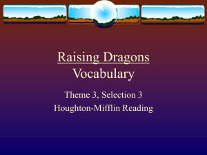 Raising Dragons Vocabulary