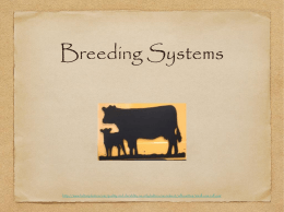 Breeding Systems Notes