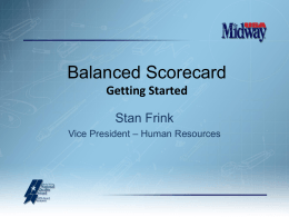 A Balanced Scorecard - America Needs Baldrige!
