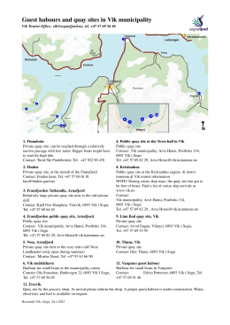 Guest habours and quay sites in Vik municipality
