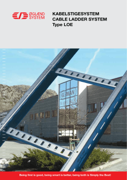 Kabelstigesystem Cable ladder system type lOe